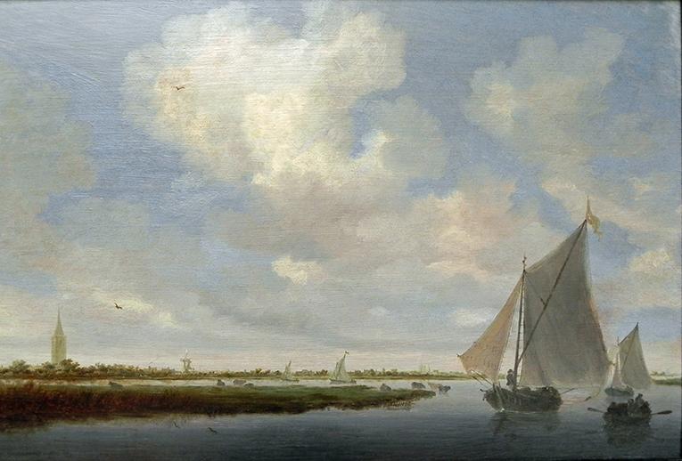 Salomon van Ruysdael Segelboote Wijkermeer