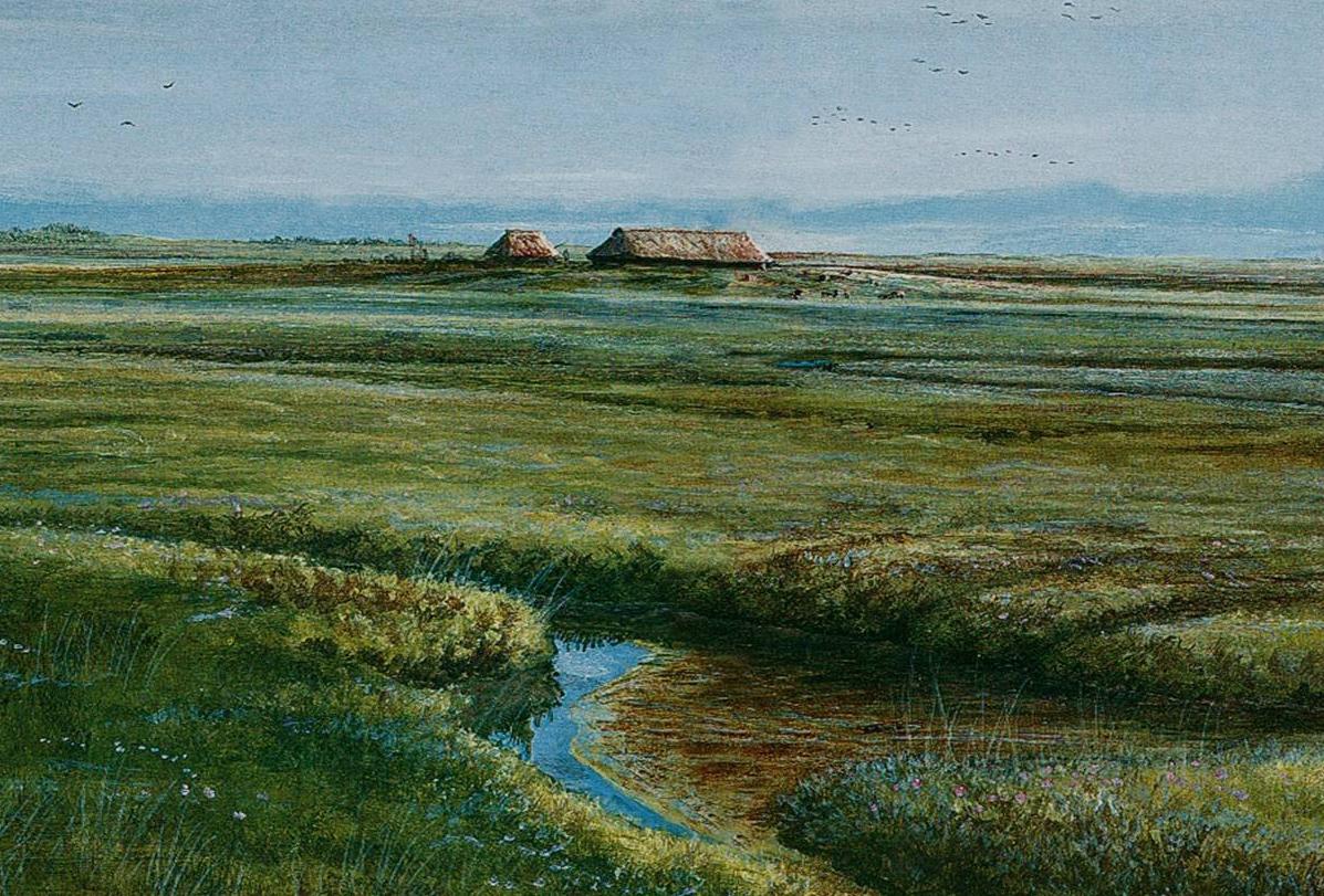 tekening van een landschap