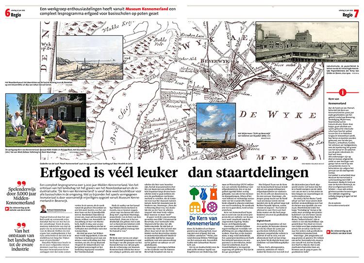 2021 Dagblad Kennemerland artikel erfgoed is veel leuker dan staartdelingen